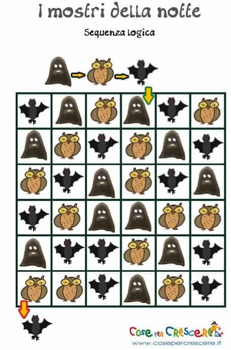 Sequenza logica per bambini