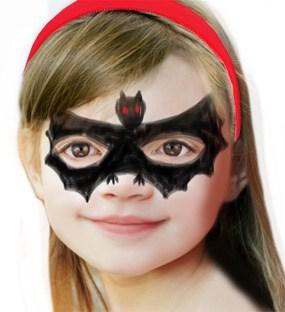 trucco da pipistrello per bambini