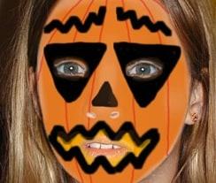 Trucco da zucca di Halloween