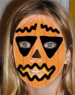 trucco zucca di Halloween per bambini