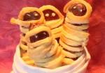 Mummie wurstel per Halloween