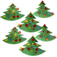 Lavoretti Di Natale Con Piatti Di Plastica.Alberi Di Natale Con Piatti Di Carta Cose Per Crescere