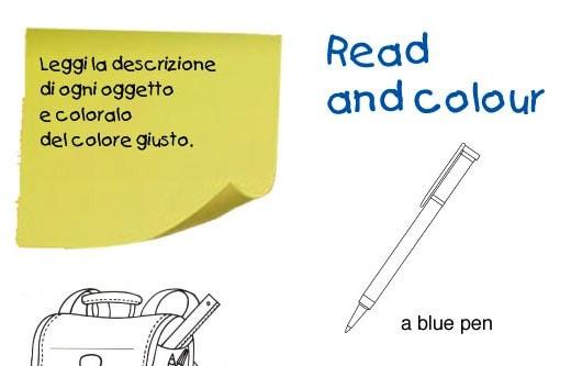 Leggi in inglese e colora