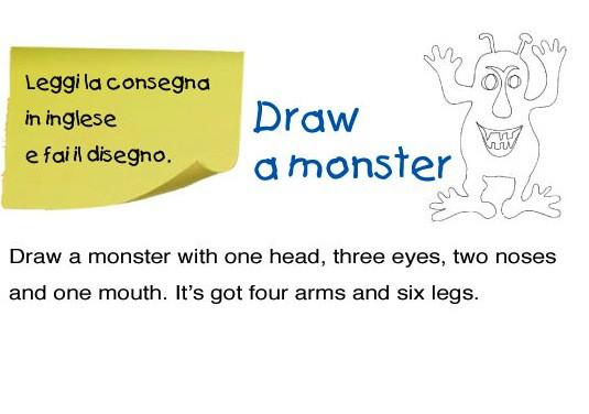 Disegna un mostro: esercizio d'inglese