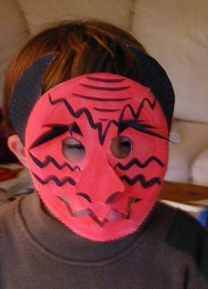 Maschera da diavolo per bambini
