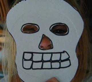 Maschera da scheletro per Halloween