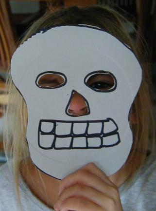 Maschera da scheletro per bambini