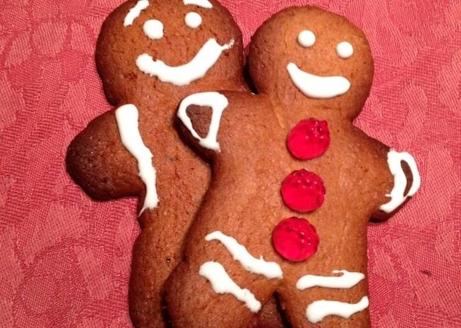 Omino di pan di zenzero: biscotto di Natale