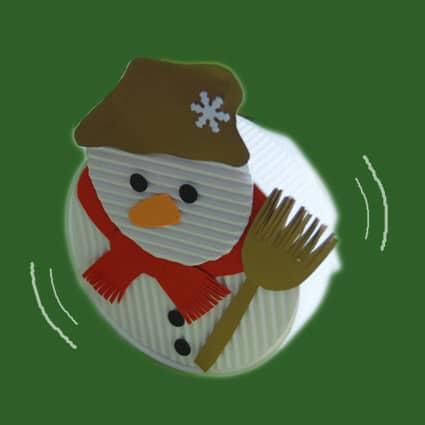 pupazzo neve dondolo: lavoretto di natale