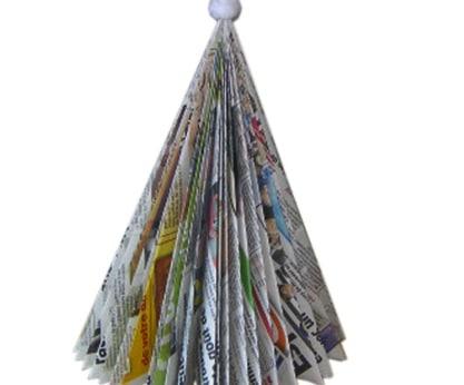 Albero di Natale tutto di carta