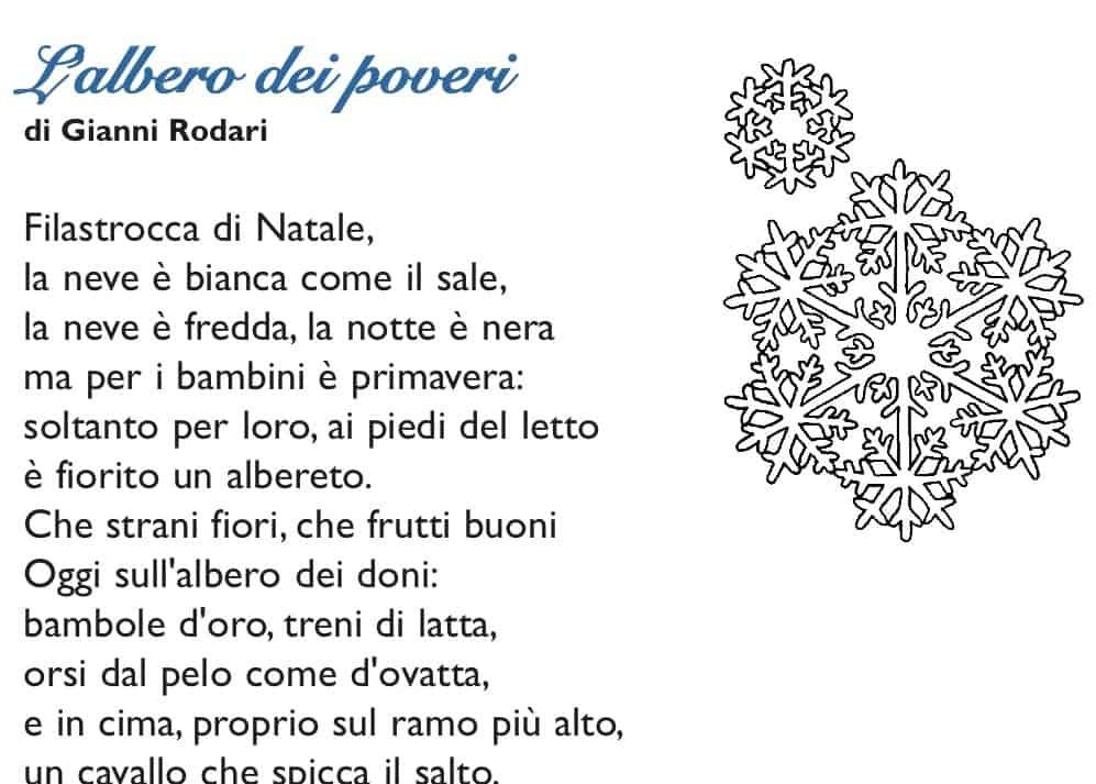 Poesia Natale Rodari.L Albero Dei Poveri Cose Per Crescere
