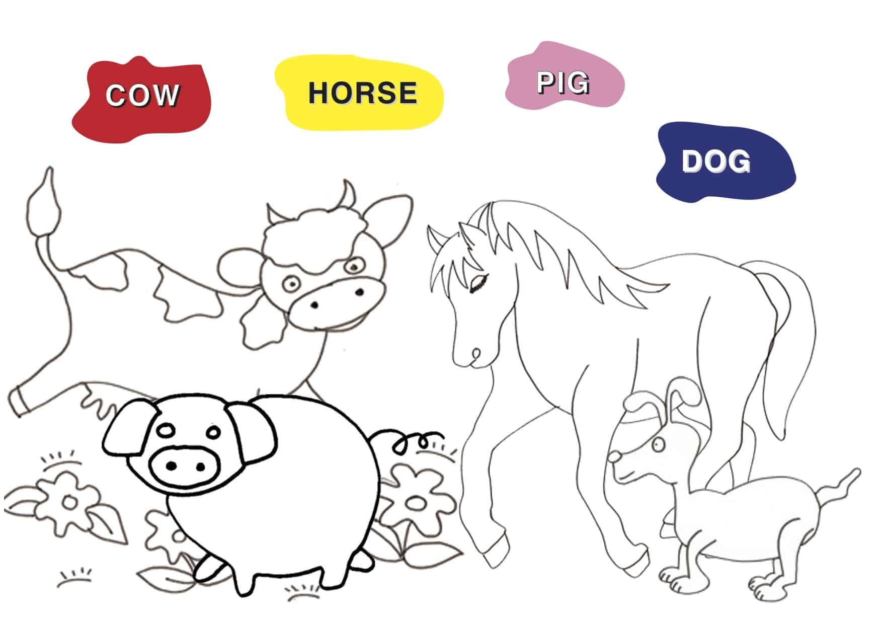 Gioco per bambini in inglese: gli animali