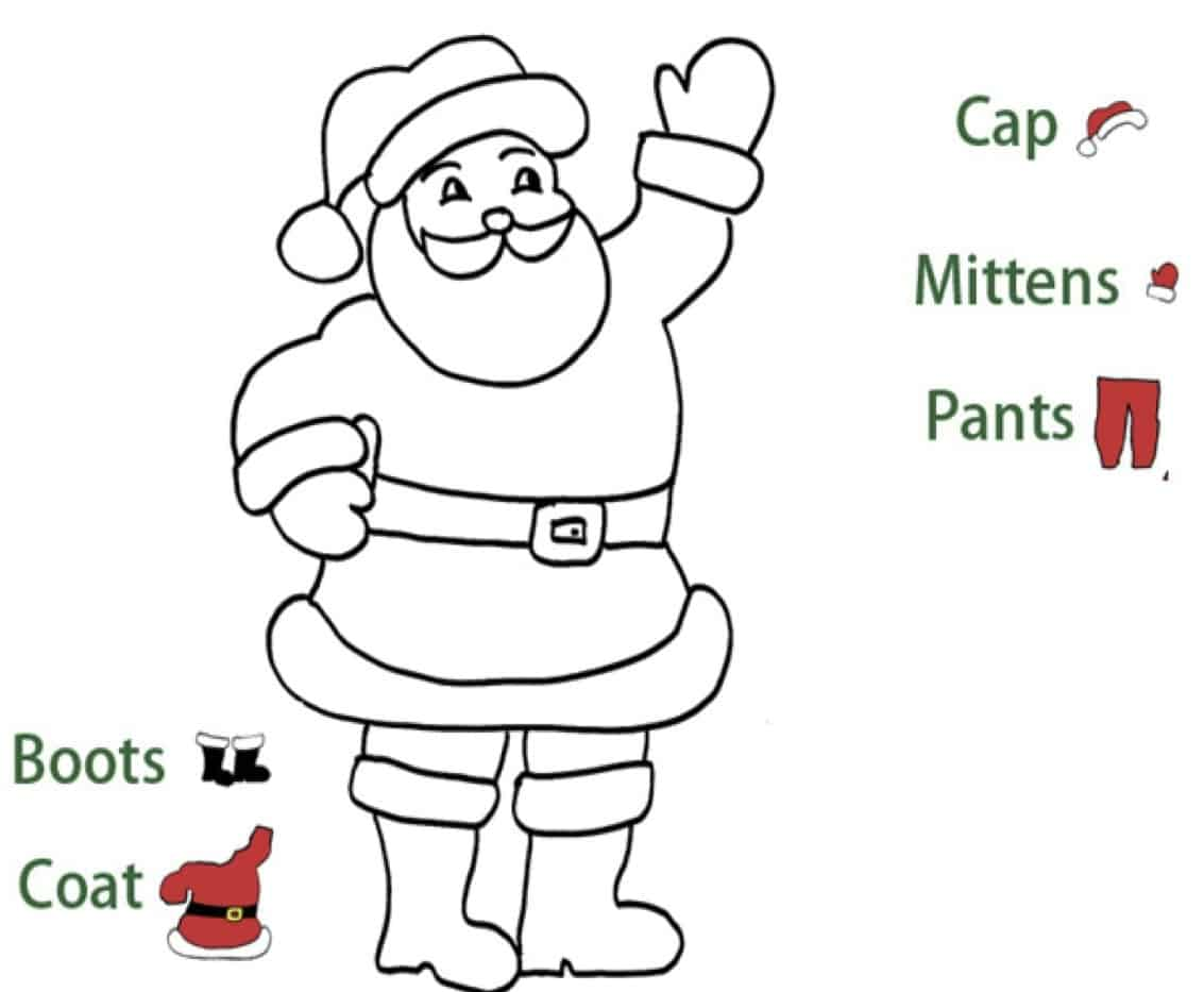I vestiti di Babbo Natale in inglese