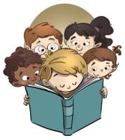 caras de niños leyendo