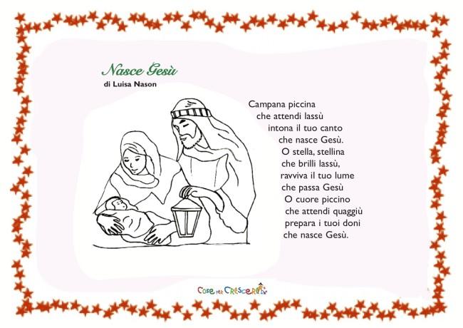 La Stella Di Natale Poesia.Testo Canto Stella Di Natale Disegni Di Natale 2019