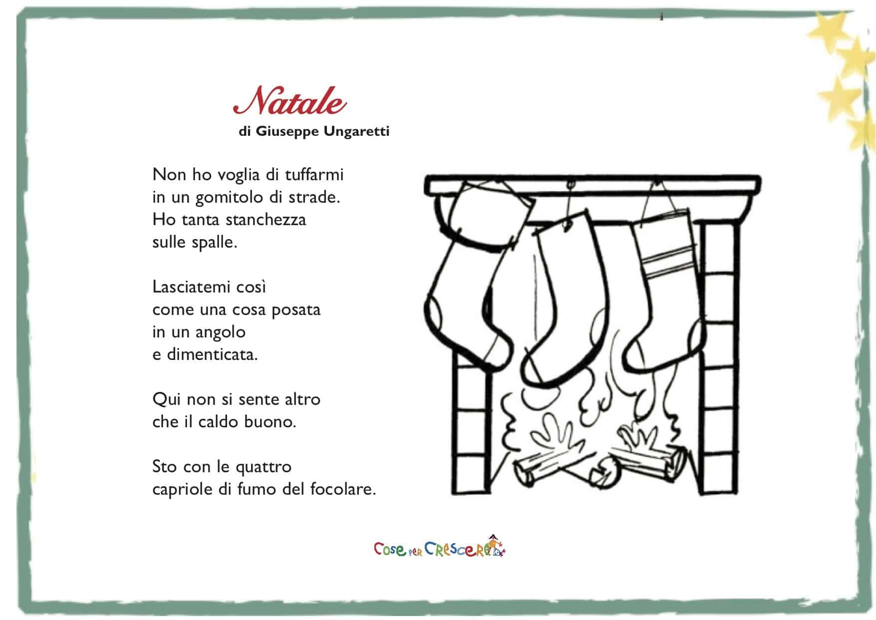Poesia Di Natale Ungaretti.Natale Di Giuseppe Ungaretti Poesia Di Natale