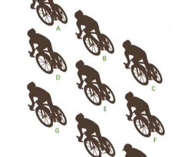 Trova le ombre del ciclista