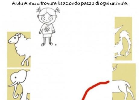 Puzzle facile degli animali