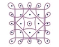 Disegno geometrico di stile rangoli