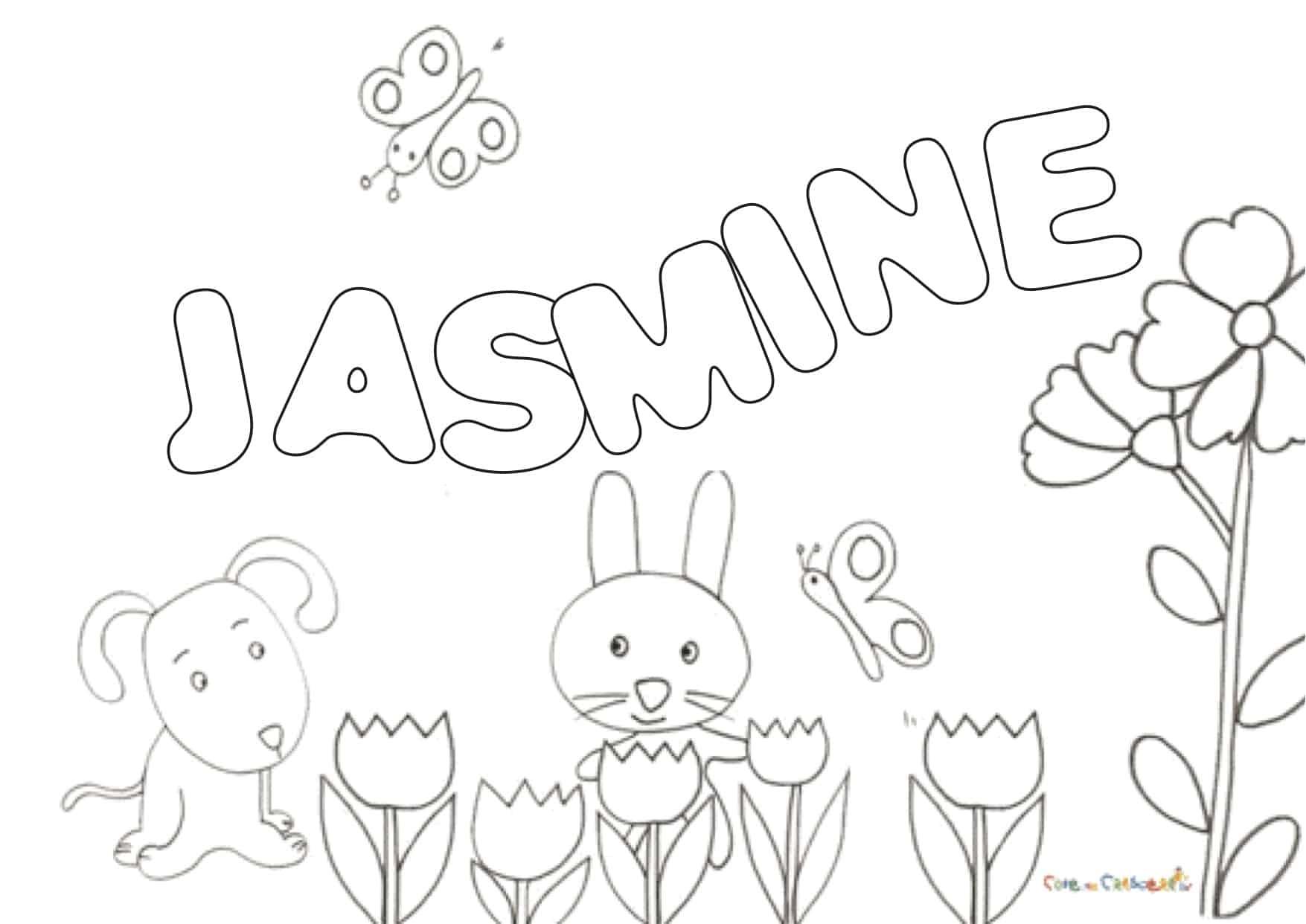 Disegni Di Nome Jasmine Da Colorare