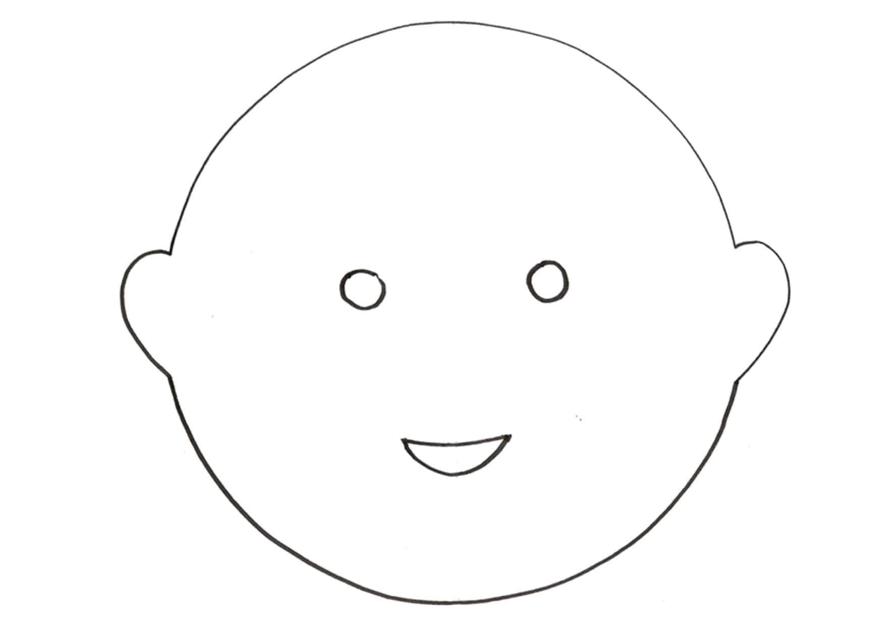 Corpo Bambino Da Colorare: Maschera Da Fiore Da Colorare