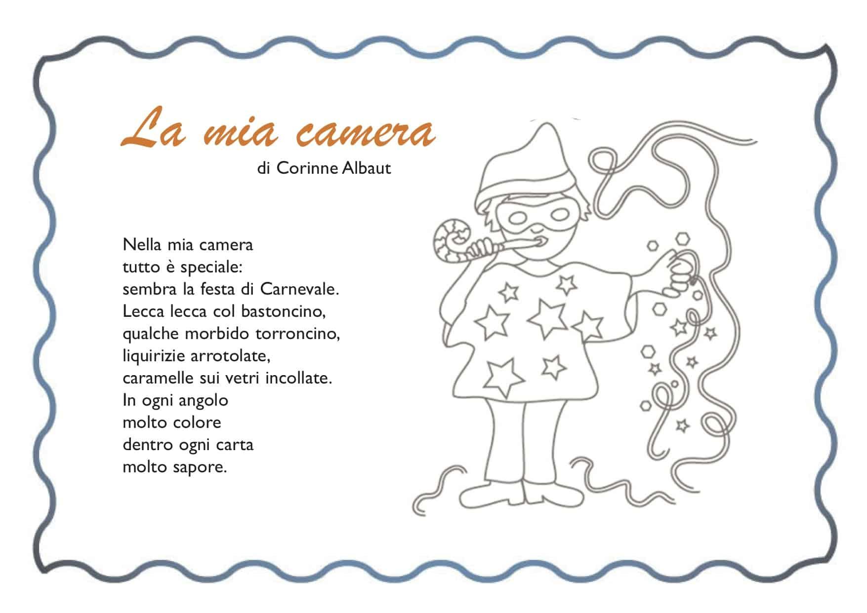 Carnevale poesia per bambini - La mia camera ...