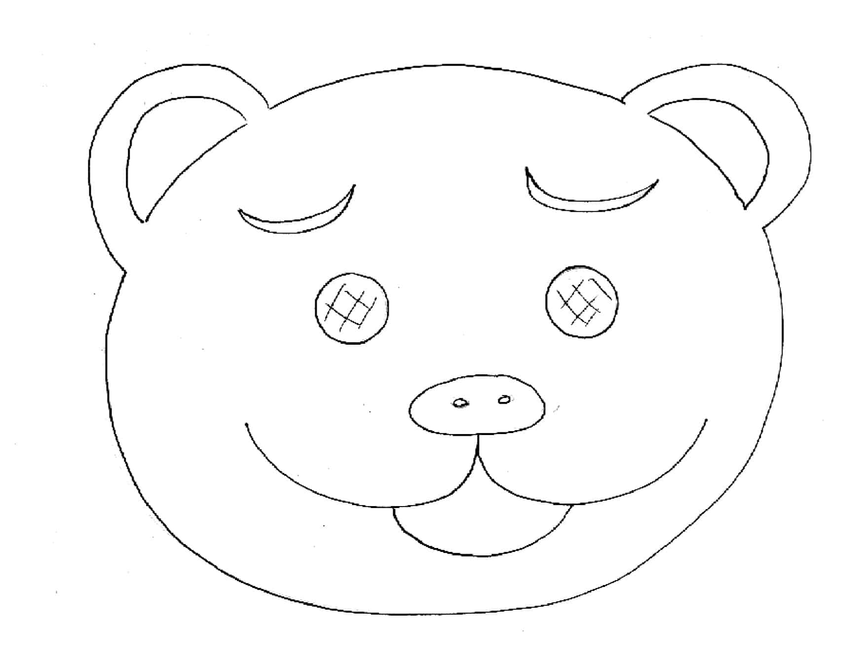 Maschera da orsetto
