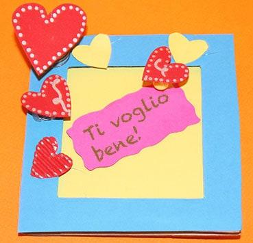 quadretto promemoria - lavoretto per san valentino