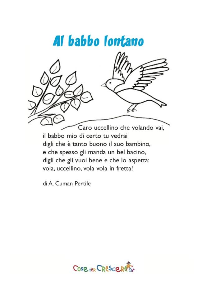 Al babbo lontano - poesia per il papà