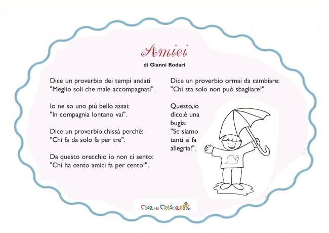Poesie Sullamicizia Per Bambini Della Scuola Primaria E Dellinfanzia