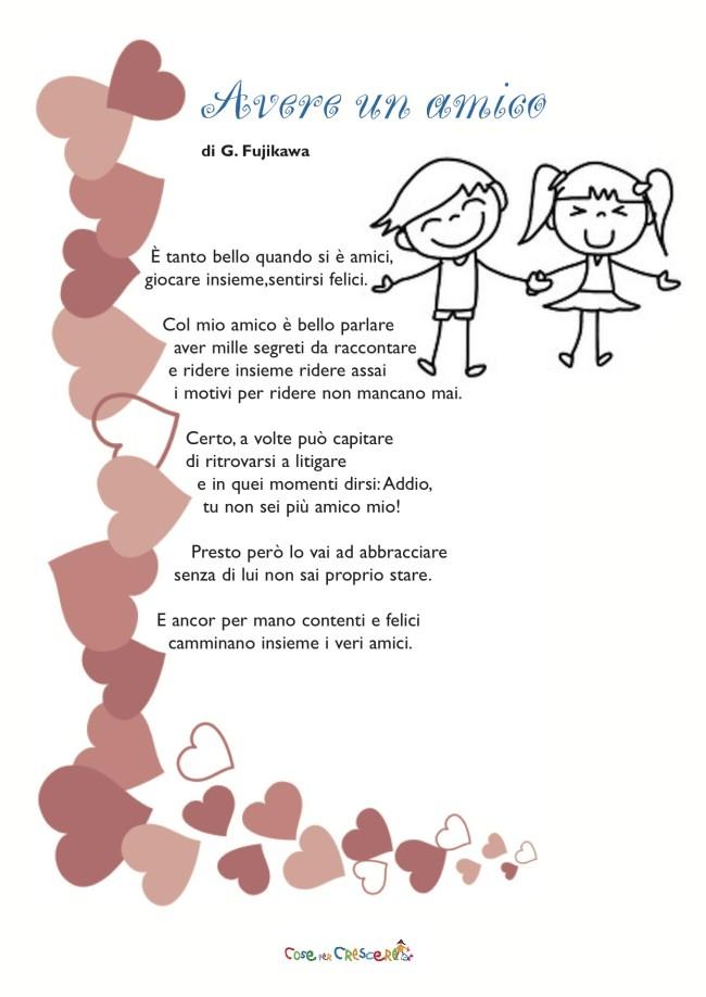 Frasi Sull Amicizia Dei Bambini.Avere Un Amico Cose Per Crescere