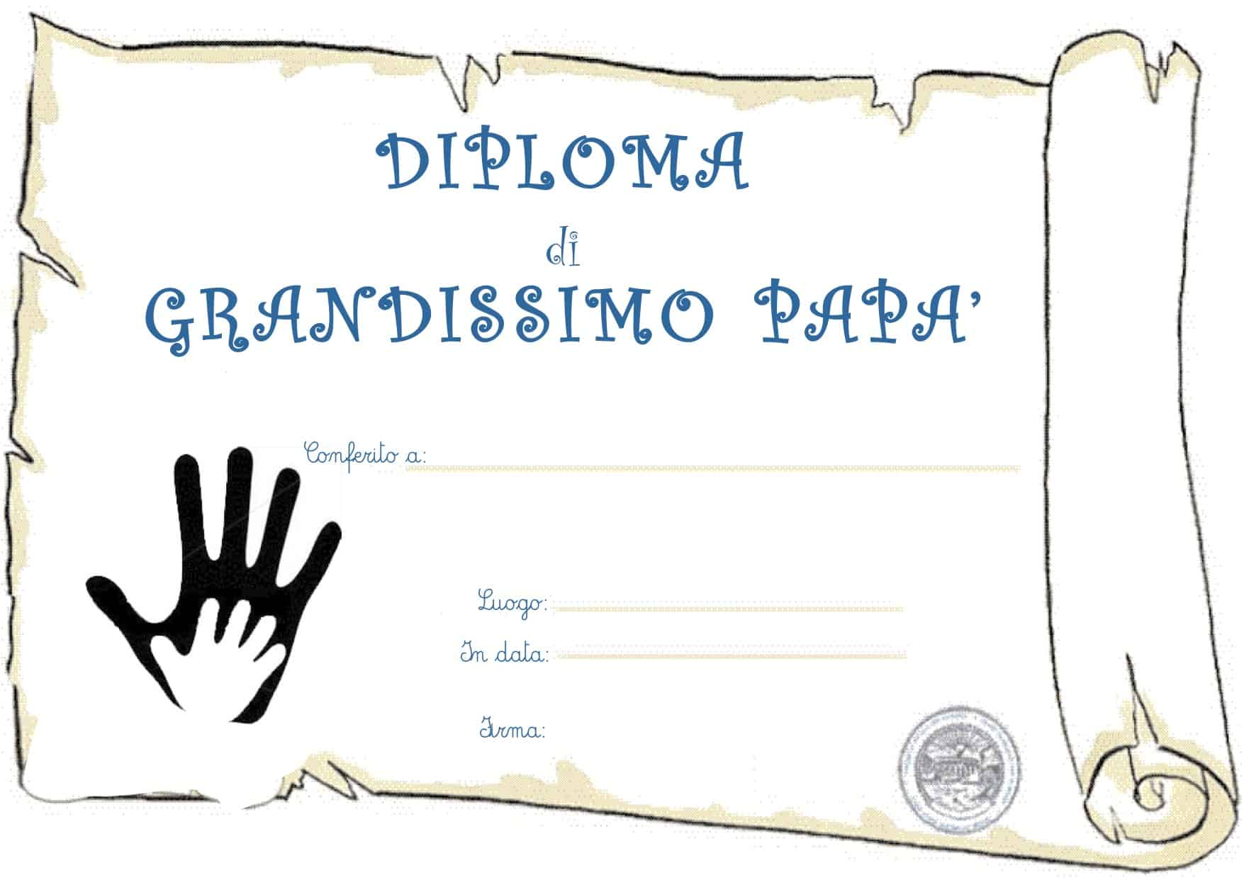 Diploma per il papa'