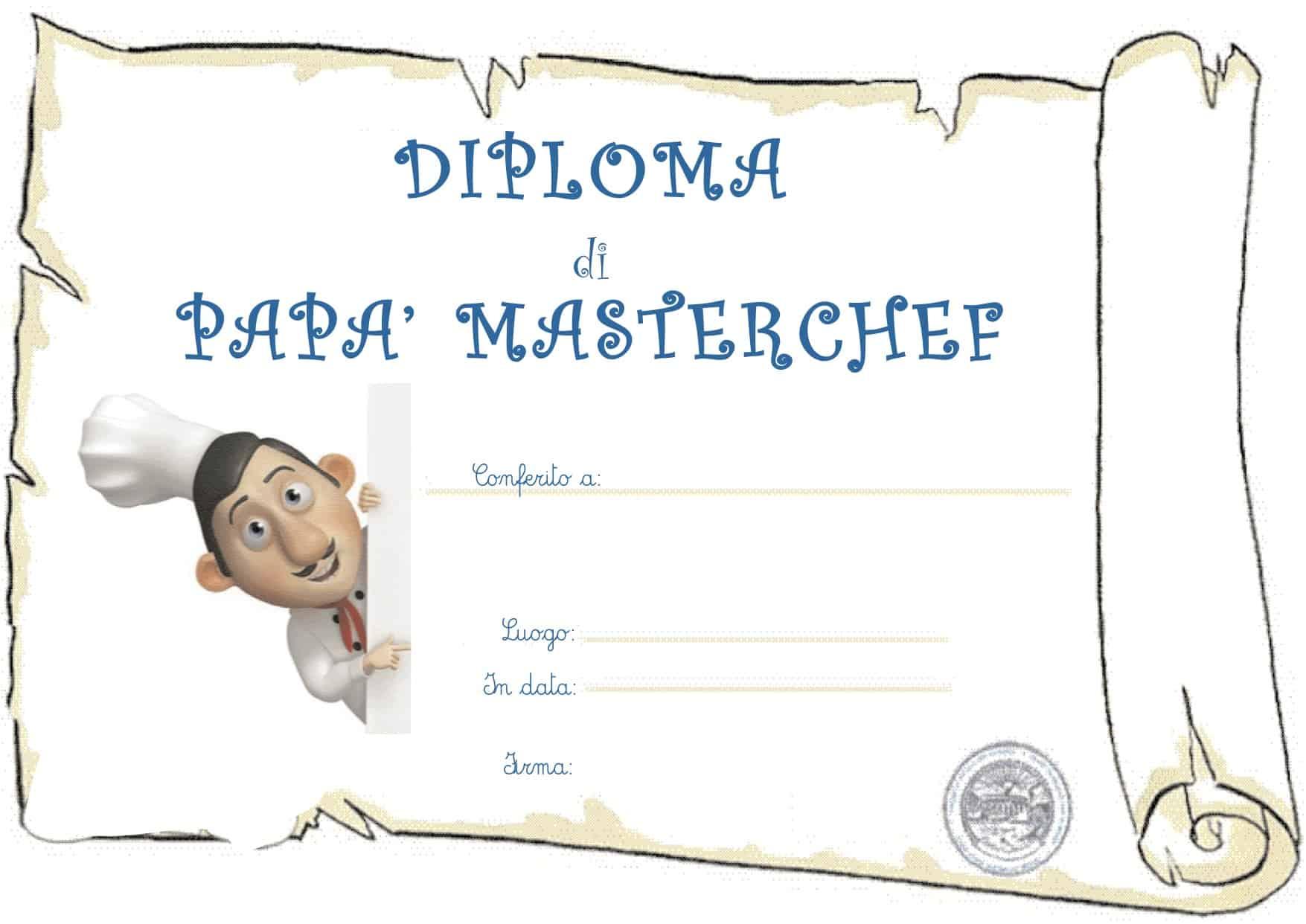 Diploma di papa' Masterchef