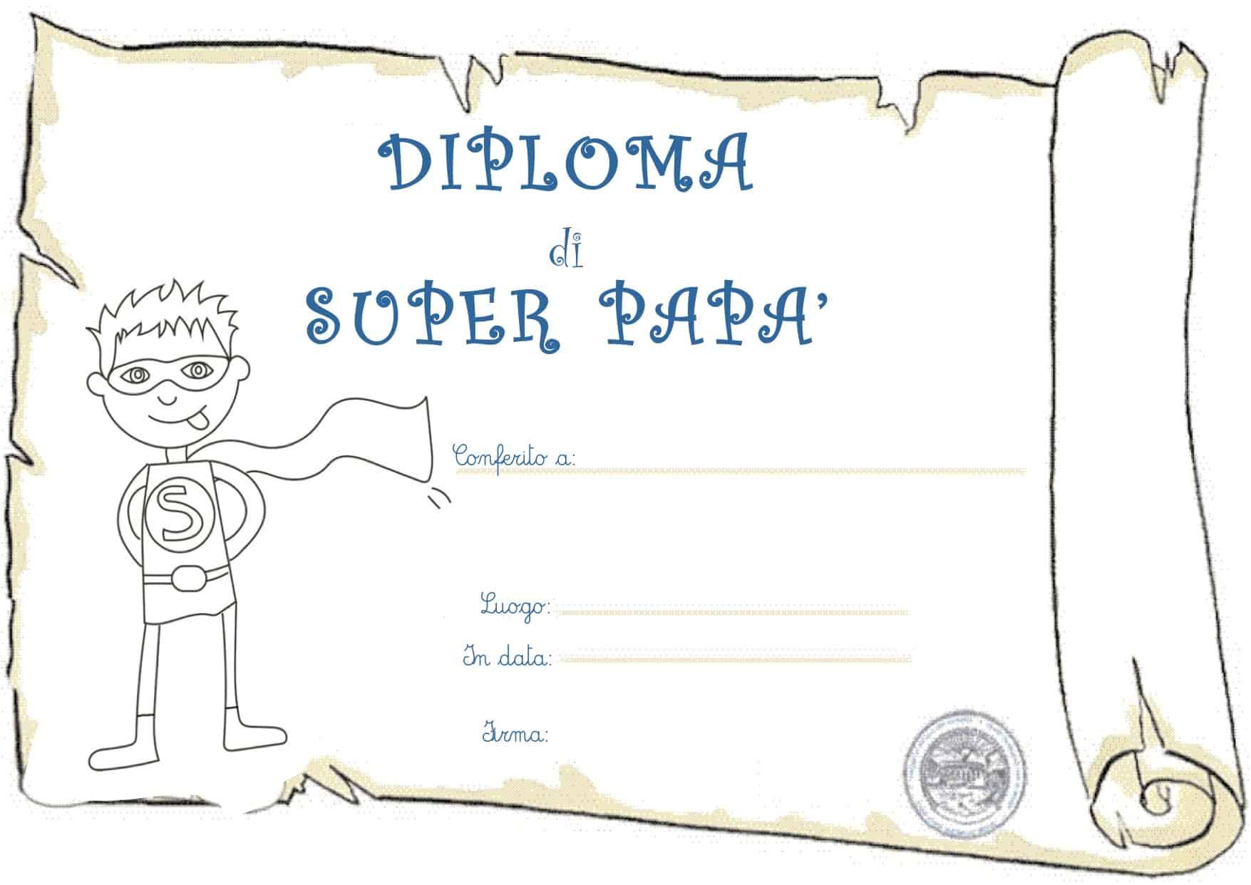 Diploma festa del papà