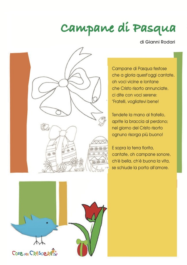 Poesia sulla pasqua for Poesia di pasqua per bambini