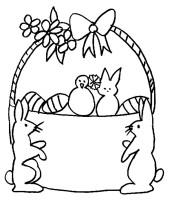 cestino e conigli