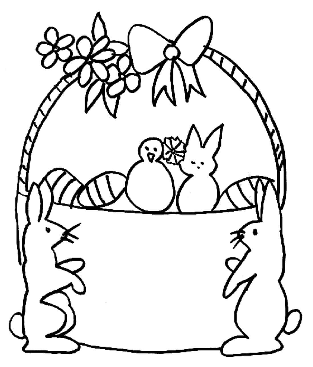 Cestino Di Pasqua E Coniglietti Da Colorare Cose Per Crescere