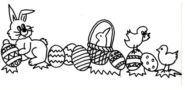 Coniglietto Di Pasqua Da Colorare Cose Per Crescere