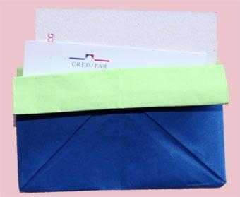 Porta biglietti in origami