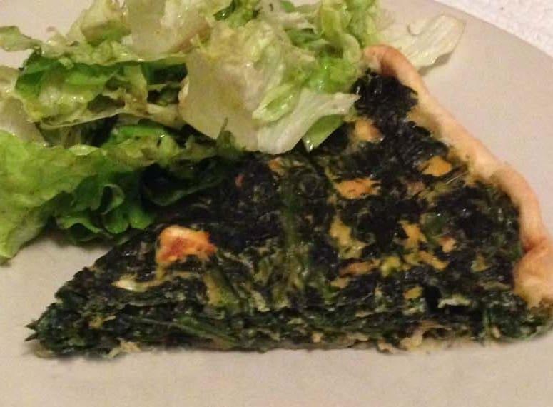 Torta spinaci e salmone
