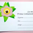 Biglietto prima comunione fai da te