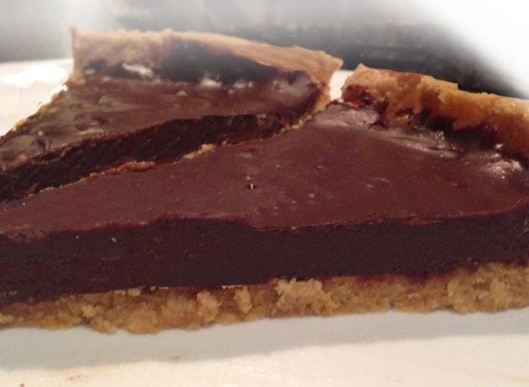 Crostata al cioccolato senza cottura