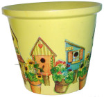 Vaso decorato con il decoupage