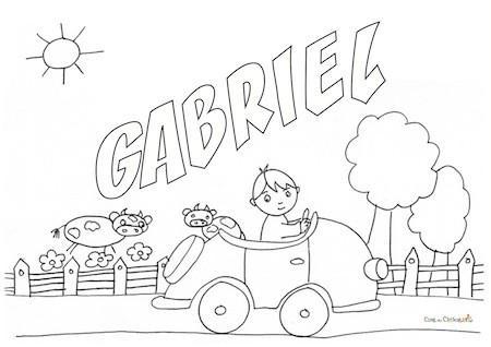 Gabriel da colorare
