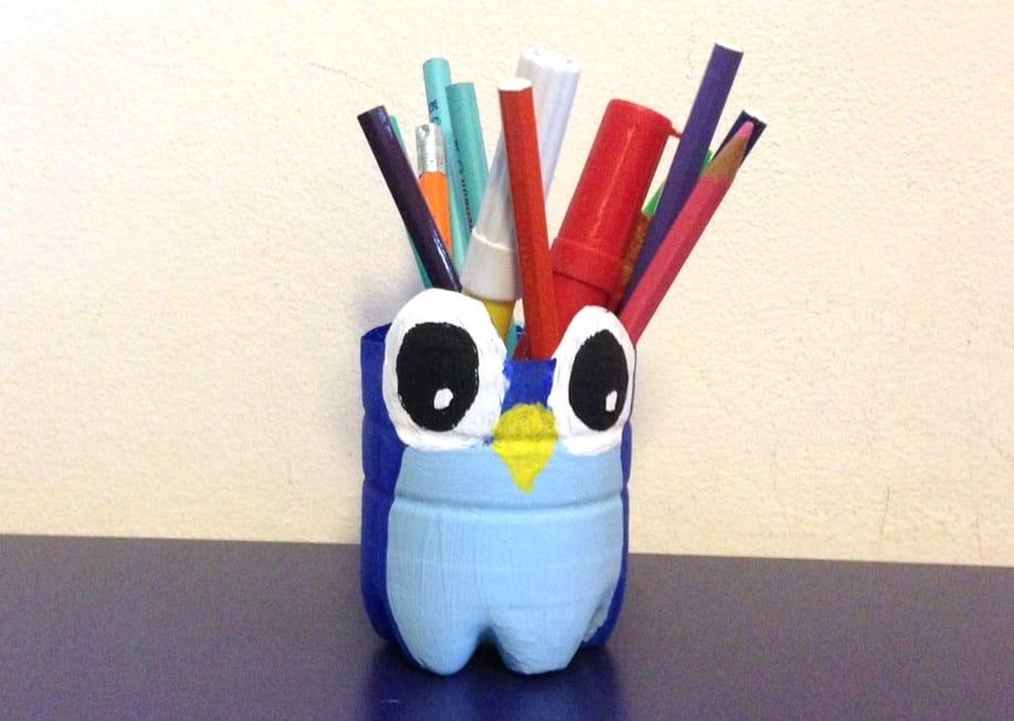 Portapenne riciclo creativo - Come disegnare un cartone animato di gufo ...