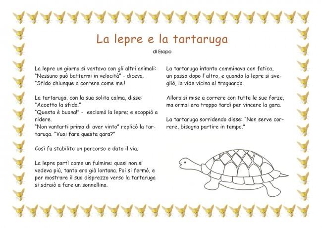 La lepre e la tartaruga favola per bambini for Lepre immagini da stampare
