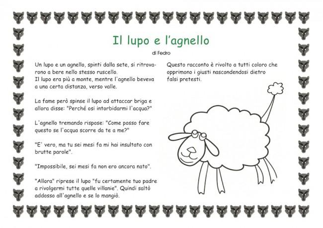 Assez Il lupo e l'agnello: favola per bambini UP88