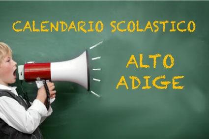 Calendario scolastico Alto Adige
