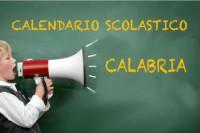 Calendario scolastico Calabria