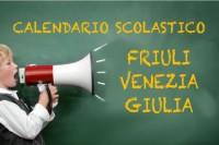 Calendario scolastico Friuli Venezia Giulia